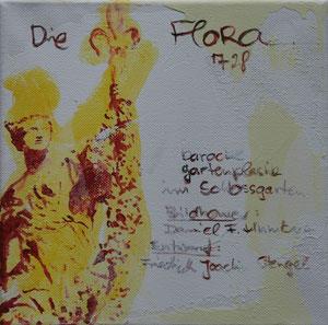 Die Flora.Acryl/Leinwand.20x20cm