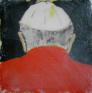Papst Johannes Paul II.Acryl/Leinwand.20x20cm