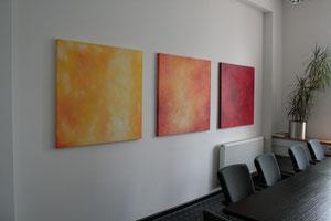 Büroräume mit Arbeiten von Gabriele Sättler-Döppner