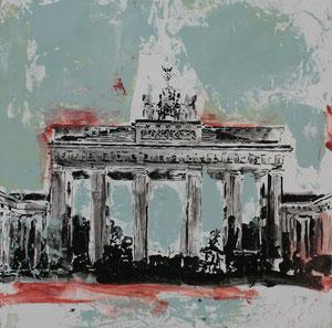 Berlin.Brandenburger Tor6.Acryl/Leinwand.50x50cm