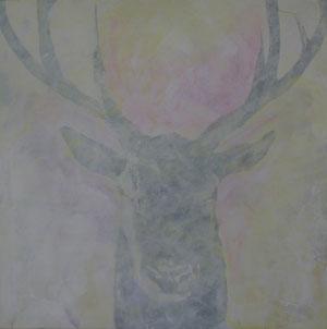 Hirsch3.Acryl/Leinwand.120x120cm