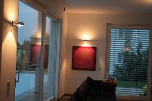 Wohnraum mit Arbeit von Gabriele Sättler-Döppner
