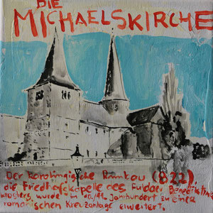 Die Michaelskirche.Acryl/Leinwand.20x20cm