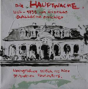 Die Hauptwache.Acryl/Leinwand.20x20cm