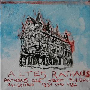 Altes Rathaus.Acryl/Leinwand.20x20cm