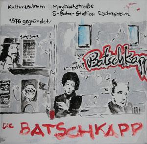 Frankfurt.Die Batschkapp.Acryl/Leinwand.20x20cm