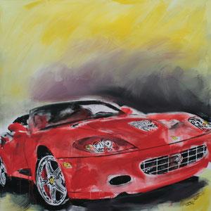 Ferrari1.Acryl/Leinwand.120x120cm