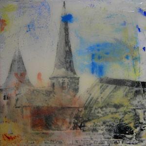 Fulda.Michaelskirche.Acryl/Leinwand.20x20 cm