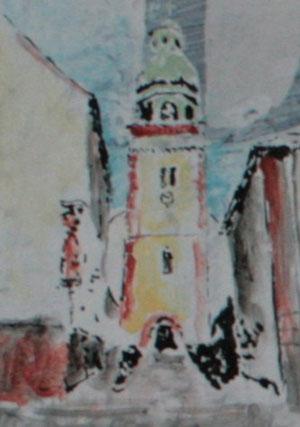Eingang zur Kirche, in der die Trauung stattfand