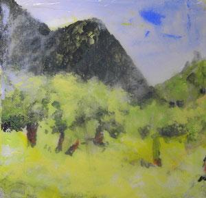 Mallorca.Acryl/Leinwand.20x20cm