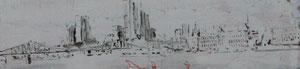 Frankfurter Skyline. Wohnort des Paares