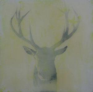 Hirsch.Acryl/Leinwand.50x50cm