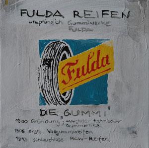 """Die Gummi"".Acryl/Leinwand.20x20cm"