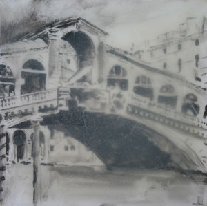 Venedig.Rialtobrücke2.Acryl/Leinwand.50x50cm