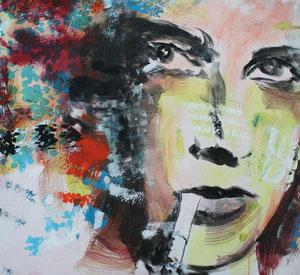 Frau.Acryl/Leinwand.120x120cm