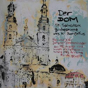 Der Dom.Acryl/Leinwand.20x20cm