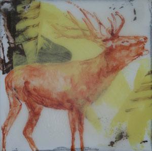 Hirsch2.Acryl/Leinwand.20x20cm