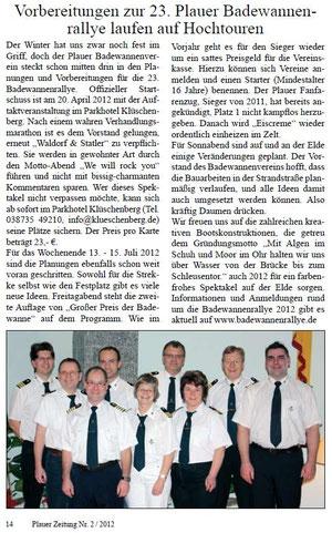 Plauer Zeitung Nr. 2 - 2012