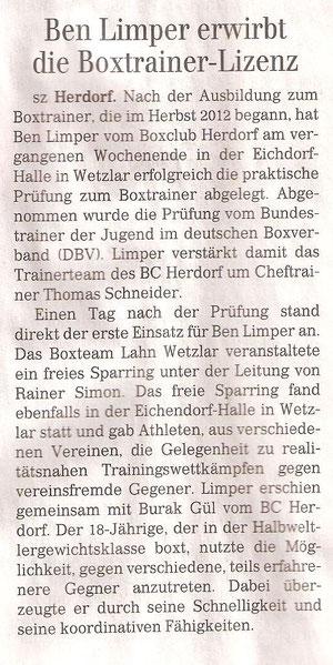 Siegener Zeitung  06.07.2013