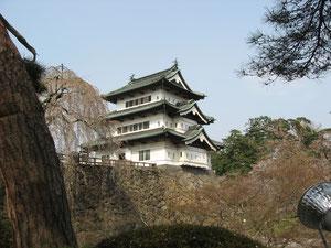 帰りに弘前城で観光だーねっ