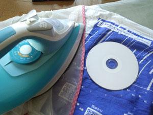 CDとの違いを意識しながら、前の日に洗濯した楽布をアイロンがけをしてみるテスト