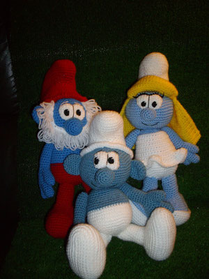 Pitufos de crochet