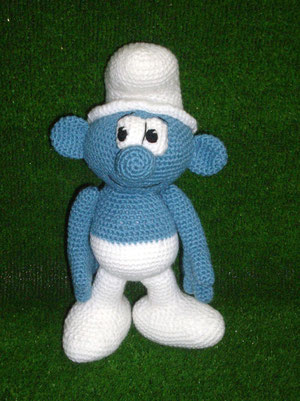 patron pitufo crochet