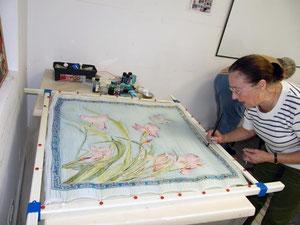 Peinture sur soie avec Colette Brousse