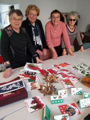 atelier patchwork préparant Noël