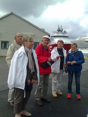 Arrivée à Bergen - Quelques membres du groupe