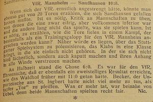 VfR Mannheim - SV Sandhausen ( 15. November 1931 )