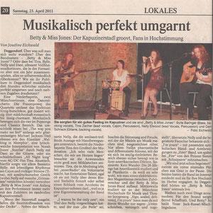 Deggendorfer Zeitung (PNP), 23.04.11