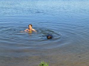 Jaaa sie kann doch schwimmen!!!:-)