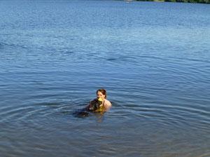 Traut sich Akeelah doch ins Wasser