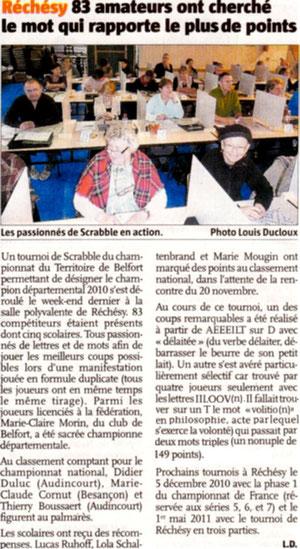 """Article paru dans """"Le Pays"""" édition du 14/11"""