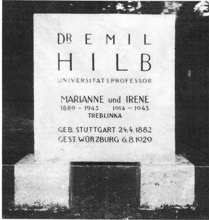 Familiengrab Hilb auf dem jüdischen Friedhof in Stuttgart (Kopie, überlassen von Prof. Dr. Vollrath)