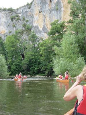 en canoé sur le célé à 20 km