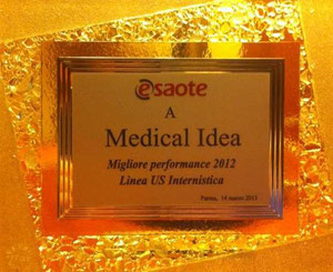 Marzo 2013 - Medical Idea Srl - Premio Miglior Performance 2012 Linea Ultrasuoni Internistica Esaote S.p.A.