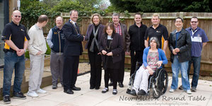 Meeting the Service Users and staff from the Contemplation group.