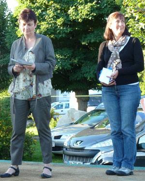 la présidente Nelly Morizot et Françoise Cuxac prix du jury 2011