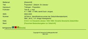 proposition im Deutschen Literaturarchiv
