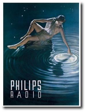 Antica pubblicità Philips radio