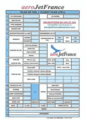 Plan de vol AJF