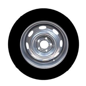 So fahren die meisten: Die 51/2 J  Felgen mit Standard Reifen