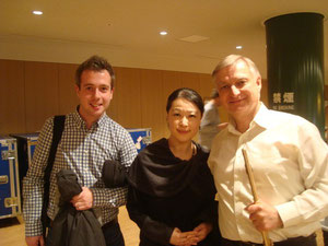 with Principal Flutist Mr.Pivoda from Czech Filharmony orchestra チェコフィル首席奏者で恩師でもあるピヴォダ氏と
