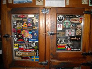 The old cooler doors!