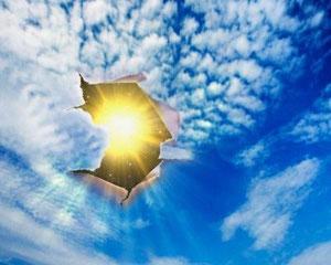 La pollution conduit a des trous dans la couche d'ozone