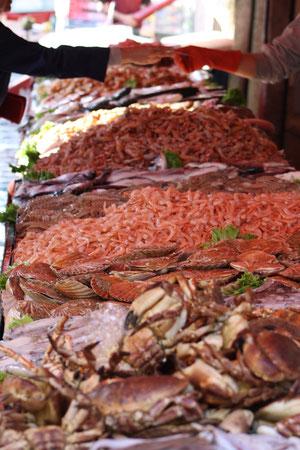 l'impressionnant marché de la mer à Rialto