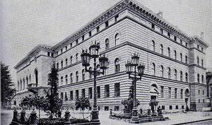 Das Ritterhaus in Riga, erbaut 1862
