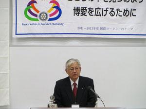 大会実行委員長三木明氏の趣旨説明